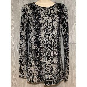 Autumn Cashmere 100% Cashmere Reptile Sweater M